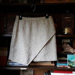H&m asymmetric sparkle metallic tweed mini skirt